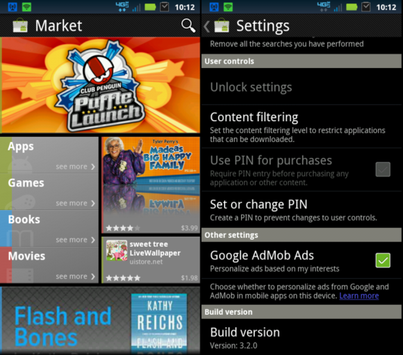 Android Market 3.2.0