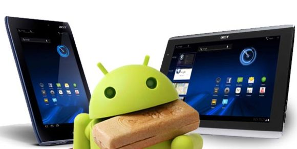 Acer ICONIA TAB A100/101 и A500/501 получат Ice Cream Sandwich в январе 2012
