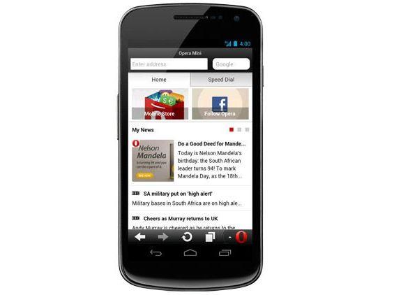 опера мини на iphone 2012: