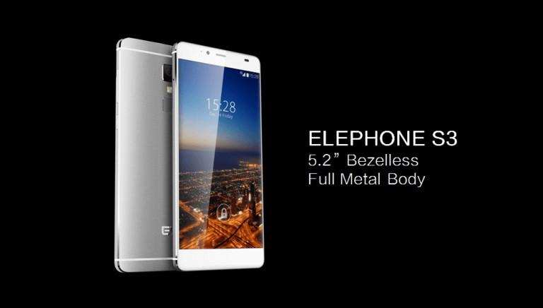 Elephone порадует пользователей новоиспеченной моделью S3 вчёрном цвете