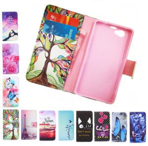 Мода-бумажник-Телефон-обложка-Роуз-Цветок-Башня-шаблон-полный-крышка-Флип-кожаный-Чехол-Для-Sony-Xperia
